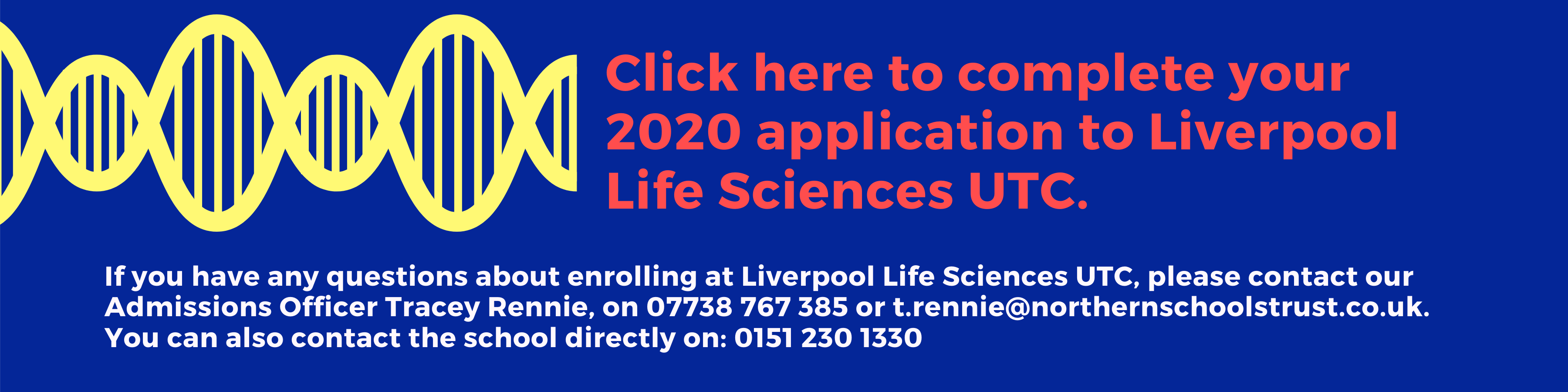 Apply to Liverpool Lifesciences UTC